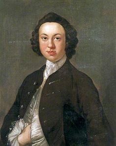 """Charles Haddock"", attr. Thomas Hudson, ca. 1750; Marlipins Museum SHORM102"