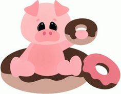 doughnut pig | pig out with donuts | ..... nothin' but pigs / part 2 | Pinterest