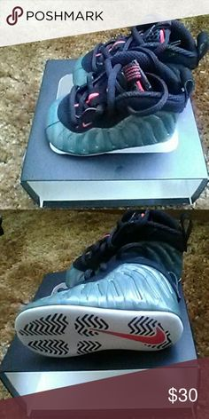 Nike Lil Posite One (CB) Brand new in box. Colors are so emerald and black with a hint of challenge red. Never been worn. Size is a 2c. Nike Shoes Baby & Walker