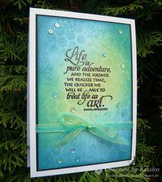 Kersten's Kreativkiste: Leben ist Abenteuer pur.....