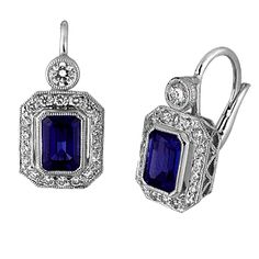 looking for blue saphire earrings for the wedding, these are from boston.com.