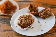 Rhubarb + Beet Muffins with Ginger Oat Crumble (gluten free)