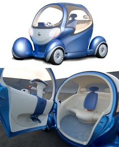 "This interesting little bubble is the Nissan Pivo 2 concept: a battery-powered two-passenger commuter car that can have conversations with its occupants in Japanese or English. The cabin rotates 360 degrees, making a reverse gear obsolete, and the wheels rotate 90 degrees for getting into and out of tight parking spaces. For a car that speaks two languages, we're guessing the designers didn't speak Czech: ""pivo"" means beer. But we're reasonably sure the designers aren't encouraging you to…"