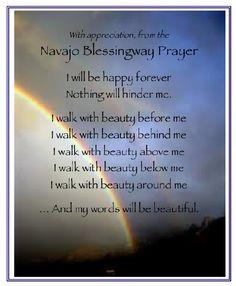 Navajo Prayer Beauty | Navajo Blessingway Prayer