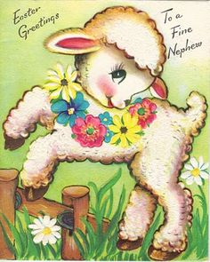 """Clip cute vintage style Easter cards to World Market Raffia for instant """"bunting""""."""