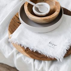 White Linen Napkins - Linen evokes an understated and honest luxury that will add an effortless elegance to your home.