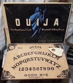 A personal favorite from my Etsy shop https://www.etsy.com/listing/520858753/original-ouija-board-by-william-fuld