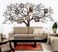 Tree wall decal wall sticker   Family Photo Tree by ArtHomeDecals