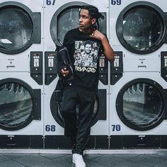 Asap Rocky wearing Trvp Gxd clothing : @shotbyestrada