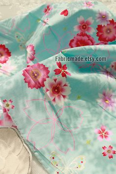 Japanese Fabric Shabby Chic Fabric Jacquard Gilding by fabricmade Blossom Flower, Cherry Blossom, Shabby Chic Fabric, Japanese Fabric, Cotton Fabric, Girls Dresses, Trending Outfits, Unique Jewelry, Handmade Gifts