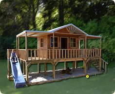 How cool is this cubby?! When we build our dream home....then the kids will be too bloody old!!