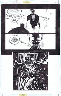 Mignola Batman Comic Art