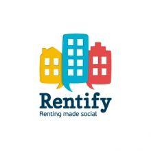 Rentify Tech Companies, Logos, Wall, Design, Logo, Walls