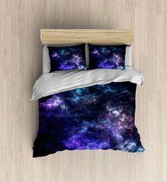 Galaxy Bedding Purple Nebula Duvet Cover by xOnceUponADesignx