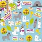 Kids Craft Holy Week Foam Stickers to Learn About Jesus and the Easter Story (Pack of Easter Stickers, Craft Stickers, Holy Week Days, Holy Thursday, Easter Story, Cross Crafts, Easter Traditions, Sunday School Crafts, Easter Crafts For Kids