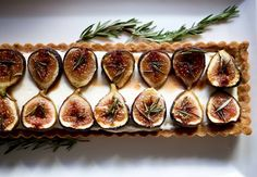 The BEST fig tart EVER. Honey roasted figs, mascarpone creme, and an incredible crust.   www.feastingathome.com
