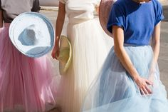 Pastel sombreros & tulle skirts. Who knew this combo would work.