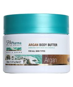 Enriched with minerals extracted from the Dead Sea and argan oil, this rich cream moisturizes and protects your skin against environmental damage. Dead Sea Minerals, Flaky Skin, Argan Oil, Body Butter, Moisturizer, Spa, Hair Beauty, Fragrance