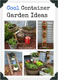 Interesting Junk Container Garden Ideas