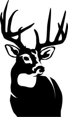 The Perfect 10 Whitetail Deer Big Game Wall Decal will look great in that man cave, cabin, garage or any room in your home decorated with an outdoor theme. Deer Stencil, Stencils, Animal Stencil, Hirsch Silhouette, Deer Silhouette, Elephant Silhouette, Arte Tribal, Wood Burning Patterns, Scroll Saw Patterns