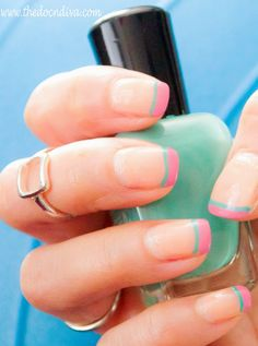 Spring 2015 Nail-trend  #Howto Do Two #twotonedFrenchTip