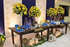 casamento rustico azul e amarelo - Pesquisa Google