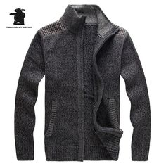 2016 New men's Cardigan Autumn Brand Fashion Slim Thicken High Quality Knit Casual Sweater For Men 3 Colors M~2XL DB12F728
