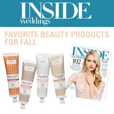 Inside Weddings has named FarmHouse Fresh products as a Favorite for Fall!