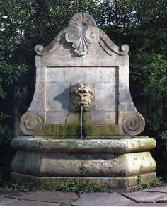 A nice fountain for the garage wall facing the back yard...