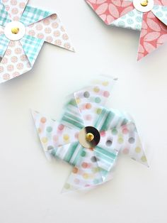 HOW TO MAKE DOUBLE-SIDED PAPER FOR PINWHEELS