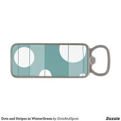 Dots and Stripes in WinterGreen Magnetic Bottle Opener