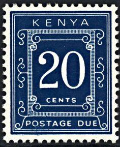 Kenya 20 cents Postage