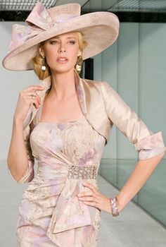 Fabulous knee length wedding guest outfit by John Charles.
