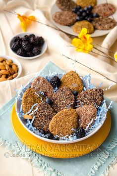 Raw Easter Cookies: the flavors are Strawberry Mint, Berry Vanilla and Carrot Cake. Yum!