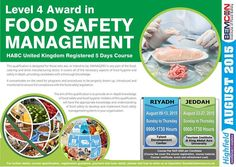 Level 4 Award in Food Safety Management