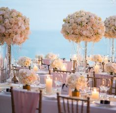 Beautiful wedding decor by the ocean #bridal #bridalparty #bride #bridesmaids #bridesmaidsdress #bridesmaidsdresses #patsbridals #wedding #MiamiWedding #miamibride