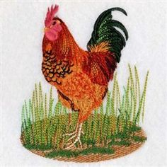 Standing Rooster embroidery design - comes in 8 different machine formats