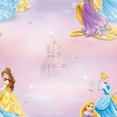 Clarice x Paste the Wall Wallpaper Roll Disney Princess Paper Wallpaper, Wallpaper Decor, Kids Wallpaper, Wallpaper Samples, Print Wallpaper, Wallpaper Roll, Disney Wallpaper, Brown Wallpaper, Wilko Paint