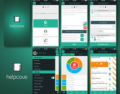 """Check out new work on my @Behance portfolio: """"helpcove app""""…"""
