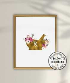 Pharmacy Student, Pharmacy School, Gifts For Dentist, Pharmacy Technician, Doctor Gifts, Anatomy Art, Mortar And Pestle, Watercolor Print, Apothecary