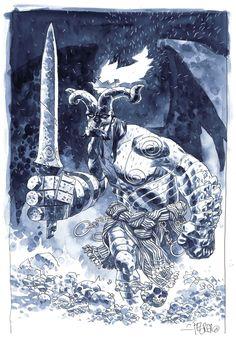 Dark  Hellboy by Duncan Fegredo