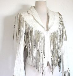 women jackets with fringe. white - Google Search