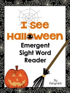 FREEBIE - Emergent sight word reader for Halloween