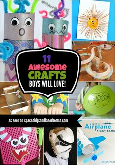 Kids Crafts Boys Will Love