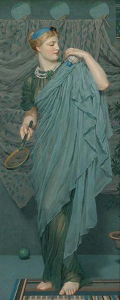 """""""Battledore,"""" 1868-70 -- by Albert Joseph Moore (British, 1841–1893)"""