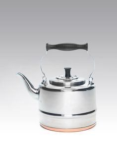 Bonjour Polished Tea Kettle with copper bottom. Designer Collection, Tea Time, Tea Pots, Kettles, Cleaning, Copper, Holidays, Kitchen, Shopping