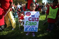 Children from the Head Start program rally outside the U.S. Capitol in Washington, DC.