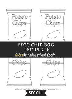 Chip Bag Template Free Enjoy Chip Bags Candy Bar