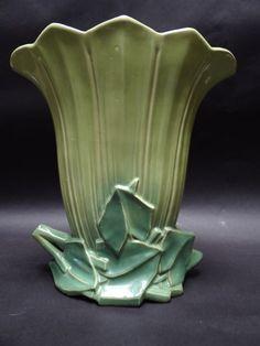 A430-2 Pottery, Vase, Ceramics, Ohio, Green, Home Decor, Ceramica, Ceramica, Columbus Ohio