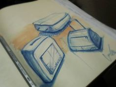 Fast watercolor doodles + color pencil